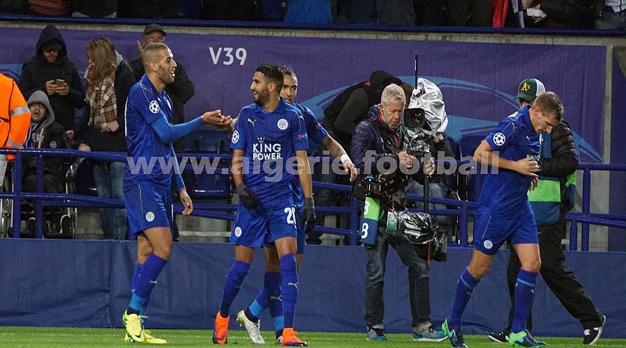 Les buts de Slimani et de Mahrez contre Leeds en coupe de la ligue