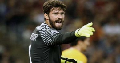 Premier League : Liverpool engage le Brésilien Alisson (AS Roma)  pour 72,5 M€