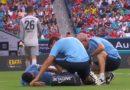 Blessure de Mahrez à la cheville gauche face au Bayern de Munich , vidéo