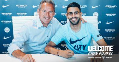 Transfert : Riyad Mahrez rejoint officiellement Manchester City pour une durée de 5 ans