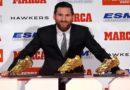 Lionel Messi remporte son 5 éme soulier d'Or, récompensant le meilleur buteur