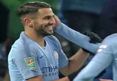 League Cup : La vidéo du but et des deux passes décisives de Mahrez face à Burton