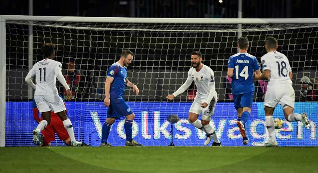 Eliminatoires Euro 2020 : Islande 0 – France 1