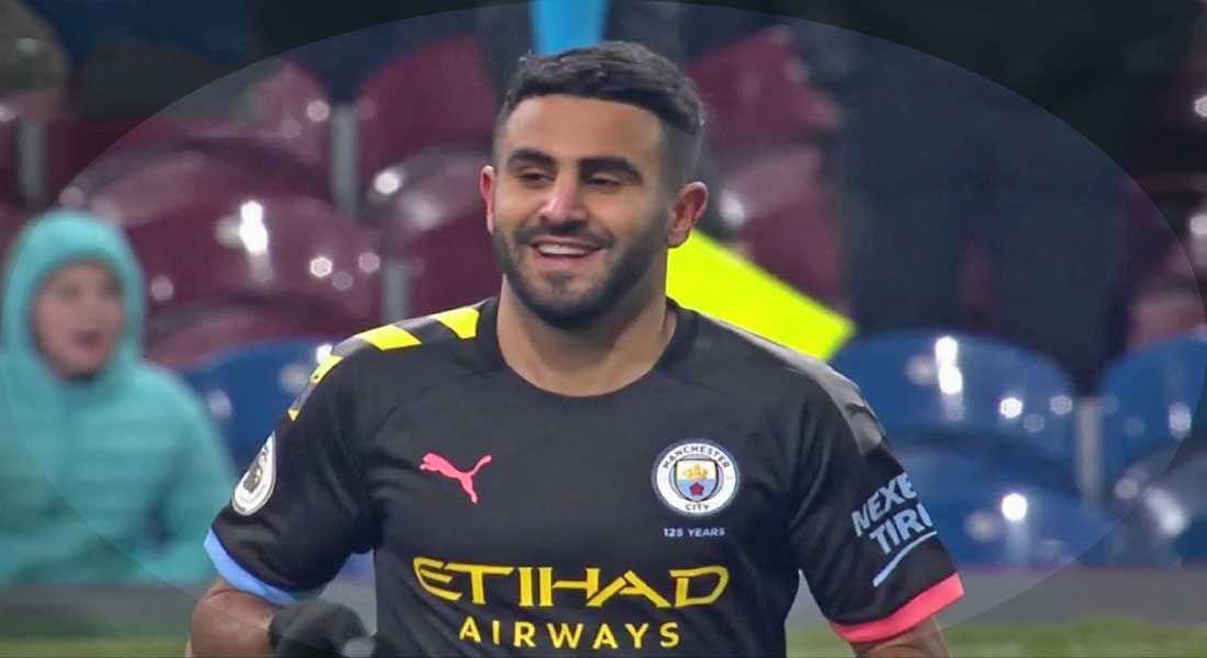 Le but de Riyad Mahrez face à Burnley