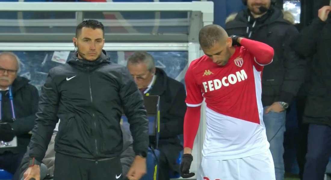 But de Slimani lors du PSG – Monaco (3-3)