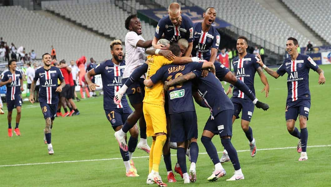 France : PSG remporte la coupe de la ligue face à Lyon par tab 6-5