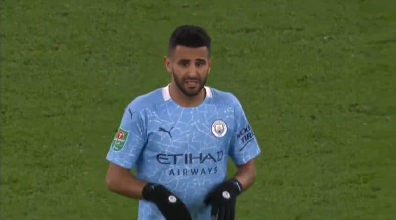 Vidéo des verts : Riyad Mahrez impliqué sur le but qui qualifia Manchester City en EFL Cup