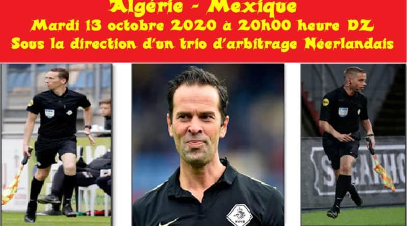 arbitres Algérie Mexique