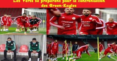 Entraînement équipe d'algérie