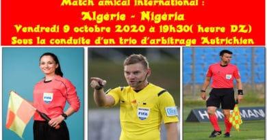 arbitres Algérie Nigéria