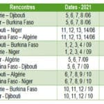 CALENDRIER équipe algérie