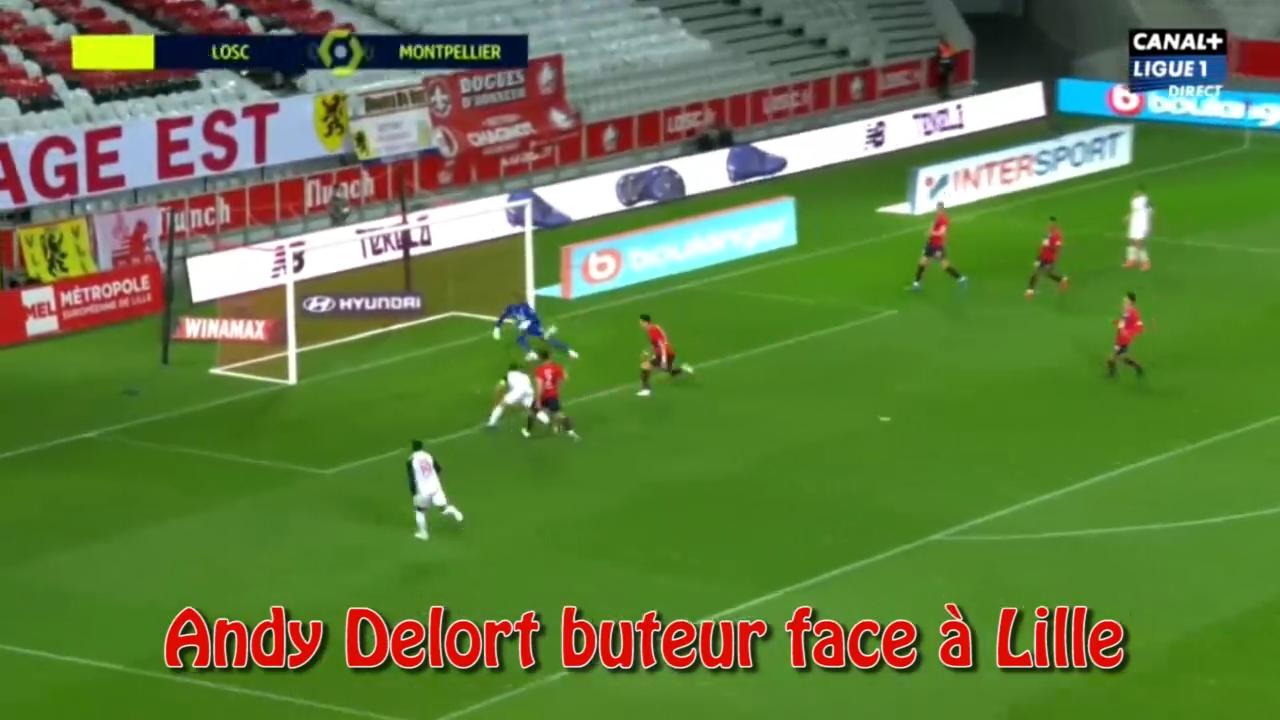 Andy Delort buteur face à Lille