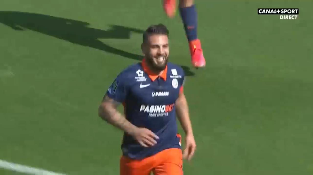 Le but de Andy Delort avec Montpellier face à Reims (Vidéo)